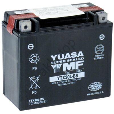 YUASA 12V 18 Ah YTX20L-BS jobb+ AGM akkumulátor