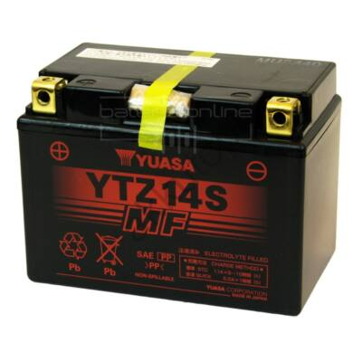 YUASA 12V 11,2 Ah YTZ14S bal+ akkumulátor