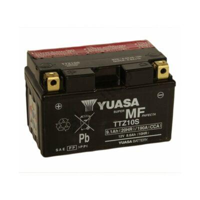 YUASA 12V 8,6Ah TTZ10S-BS bal+ AGM akkumulátor