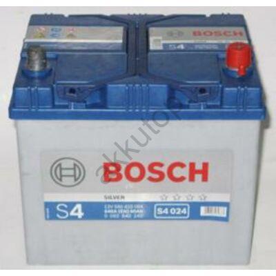 Bosch S4 60 Ah jobb+ 0092S40240 akkumulátor