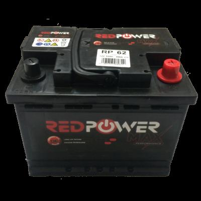 Red Power 62Ah jobb+